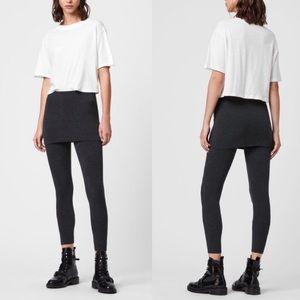 NEW All Saints Legging Skirt Black Raffi